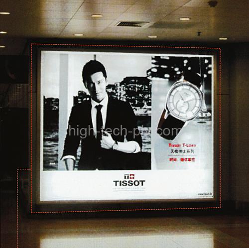 caisson lumineux grand format acrylique pour affichage publicitaire de montres