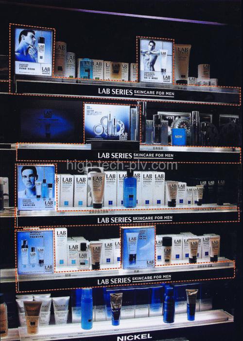 panneau led - écrans lumineux ultra-fins pour rayonnage parfumerie homme
