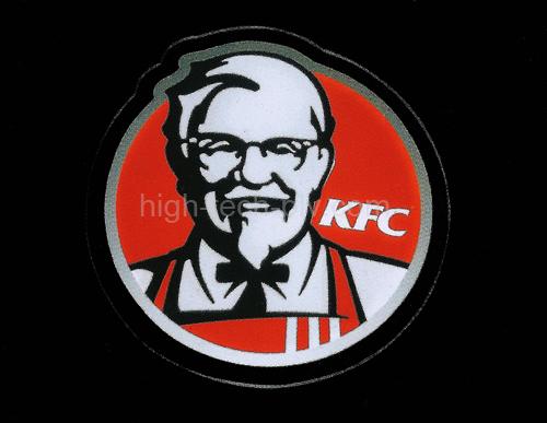 cadre animé circulaire par leds à l'enseigne d'une marque de restauration rapide