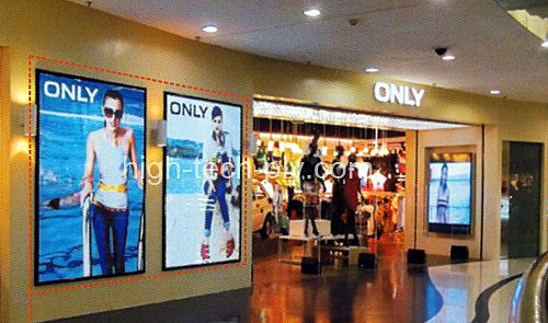 dalle lumineuse led - panneaux lumineux à led dans une galerie commerciale